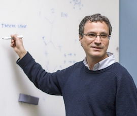 Professor Gabriele Travaglini at a whiteboard